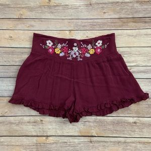 Mossimo Embroidered Shorts